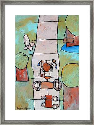 Red Trike Framed Print