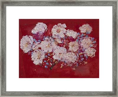 Red Trilium  Framed Print by Don  Wright
