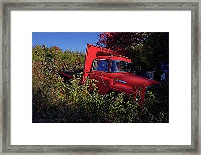 Red Truck Framed Print by Jerry LoFaro