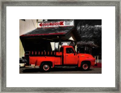 Red Truck Jimtown Store Framed Print