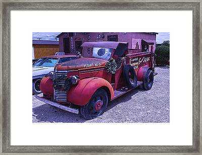 Red Truck Permit No 3 Framed Print by Garry Gay