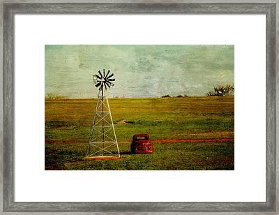 Red Truck Red Dirt Framed Print by Toni Hopper