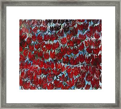 Red Tulips Framed Print by Joan De Bot