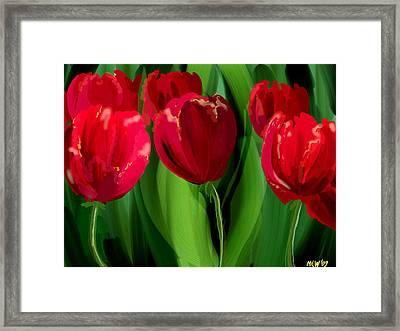 Red Tulips Framed Print by Margaret Wingstedt