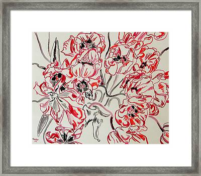Red Tulips Framed Print by Vitali Komarov