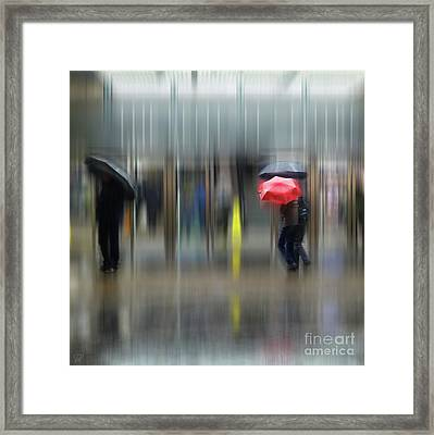 Framed Print featuring the photograph Red Umbrella by LemonArt Photography