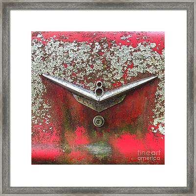 Framed Print featuring the photograph Red V-8 by Terry Rowe