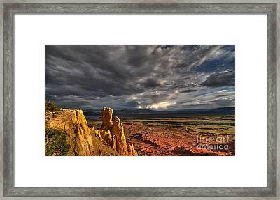 Framed Print featuring the photograph Red Valley by Brian Spencer