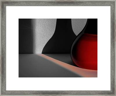 Red Vase Framed Print by Tom Druin