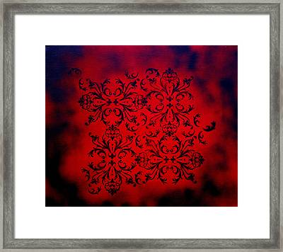 Red Velvet By Madart Framed Print by Megan Duncanson