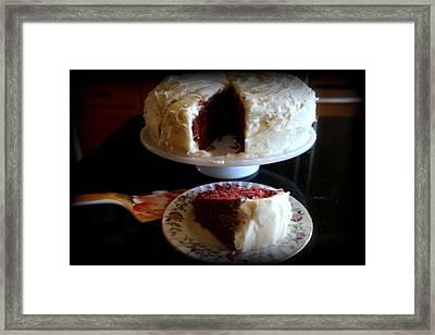 Red Velvet Cake Framed Print