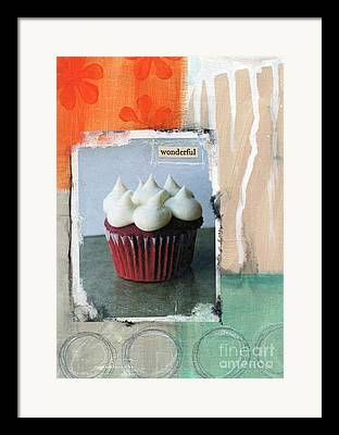Frosting Mixed Media Framed Prints