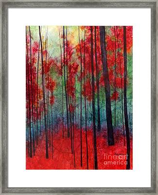 Red Velvet Framed Print by Hailey E Herrera