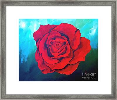 Red Velvet Framed Print by Herschel Fall