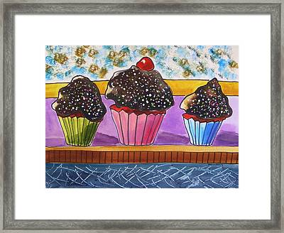 Red Velvet With Hot Fudge Frosting Framed Print by John Williams