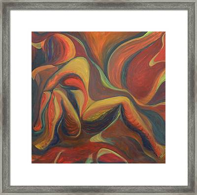 Red Venture Unknown Framed Print