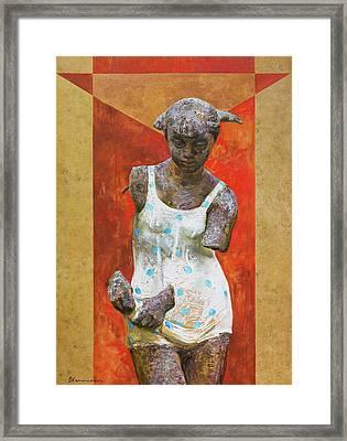 Red Venus Framed Print by Victoria Kharchenko