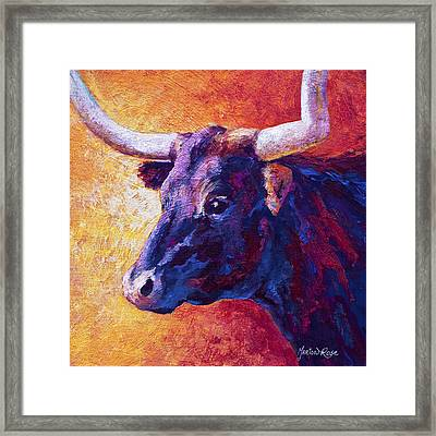Red Violet Framed Print by Marion Rose