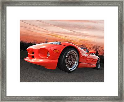Red Viper Rt10 Framed Print by Gill Billington