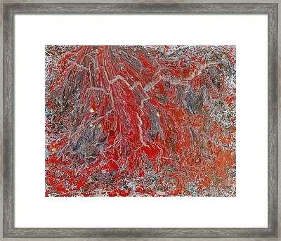 Red Volcano Framed Print