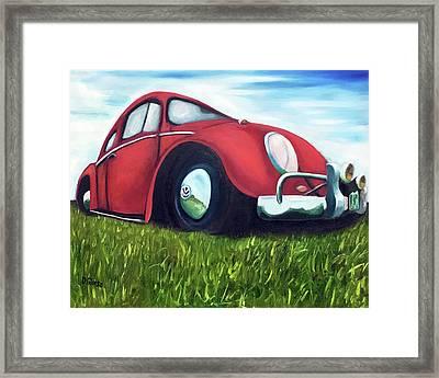Red Vw Framed Print