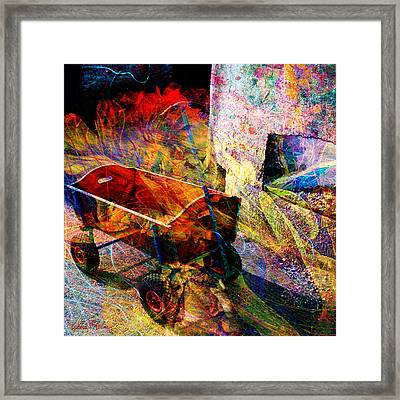 Red Wagon Framed Print