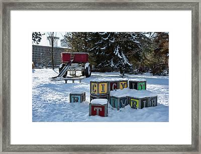 Red Wagon Playground - Riverfront Park - Spokane Framed Print