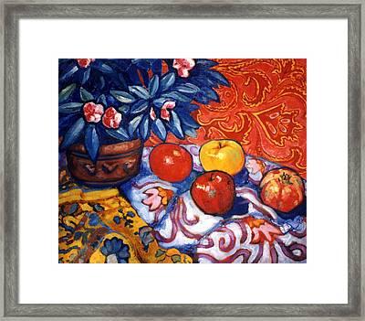 Red Wallpaper Framed Print by Paul Herman