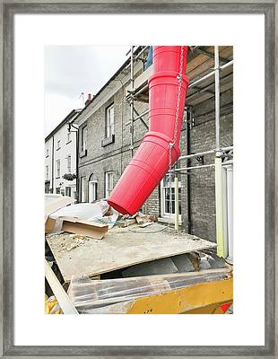 Red Waste Chute Framed Print