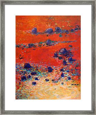 Red Waters Framed Print by Dale  Witherow