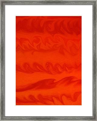 Red Waves Framed Print by James Mikkelsen