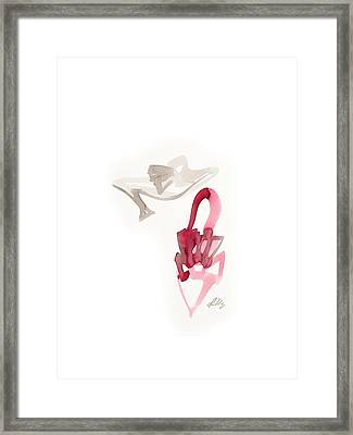 Red Wedding Shoes Framed Print