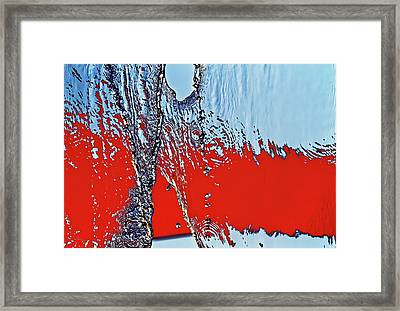 Red Wet And Blue 2  Framed Print by Bob Orsillo