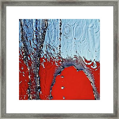 Red  Wet And Blue Framed Print by Bob Orsillo