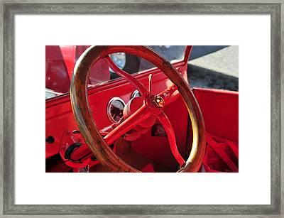 Red Wheel Framed Print by David Lee Thompson