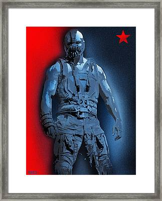 Red White And Bane Framed Print by Surj LA