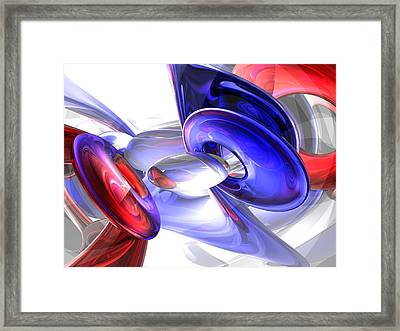 Red White And Blue Abstract Framed Print by Alexander Butler