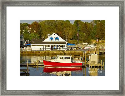 Red White And Blue Framed Print by Alice Mainville
