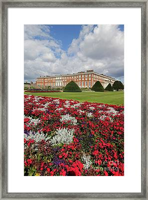Red White And Blue At Hampton Court Framed Print
