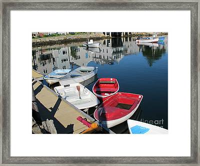 Red White And Blue Framed Print by B Rossitto