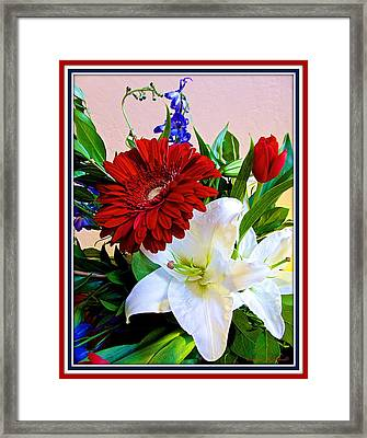 Red - White And Blue Framed Print