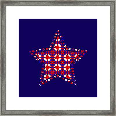 Red White And Blue Framed Print by Becky Herrera