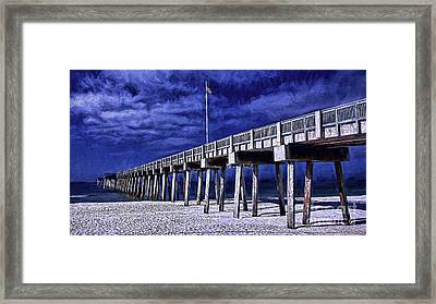Red White And Blue Framed Print by Dave Bosse
