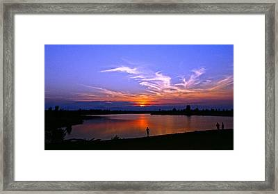 Framed Print featuring the photograph Red, White And Blue by Eric Dee