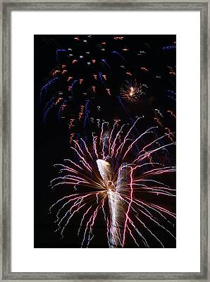 Red White And Blue Framed Print by Heather Green