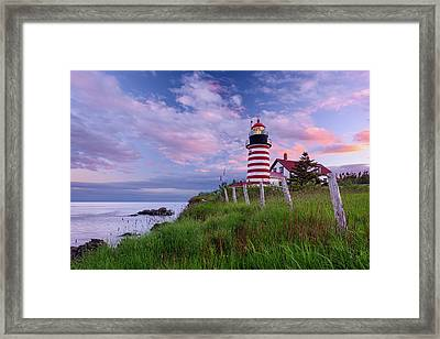 Red, White And Blue Framed Print by Michael Blanchette