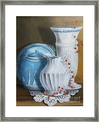 Red White And Blue Framed Print by Patricia Lang