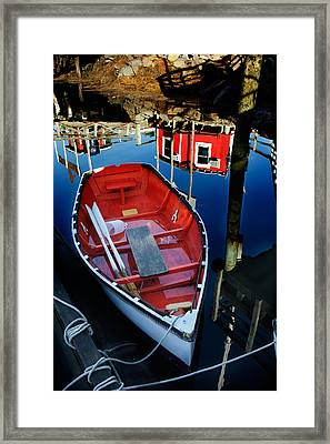 Red White And Blue Framed Print by Ron St Jean
