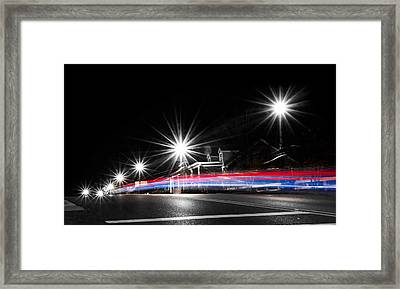 Red White And Blue Framed Print by Shelby Young