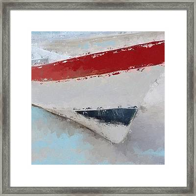Red White And Blue Starboard  Framed Print